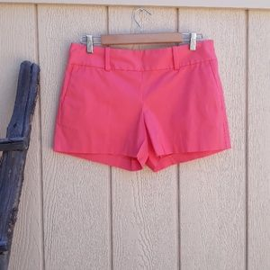 Ann Taylor Coral High Waisted City Shorts Size 6P
